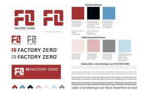 afbeelding huisstijlgids factory zero